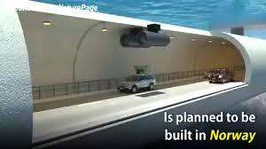 Cầu lơ lửng dưới nước được xây dựng tại Na Uy.