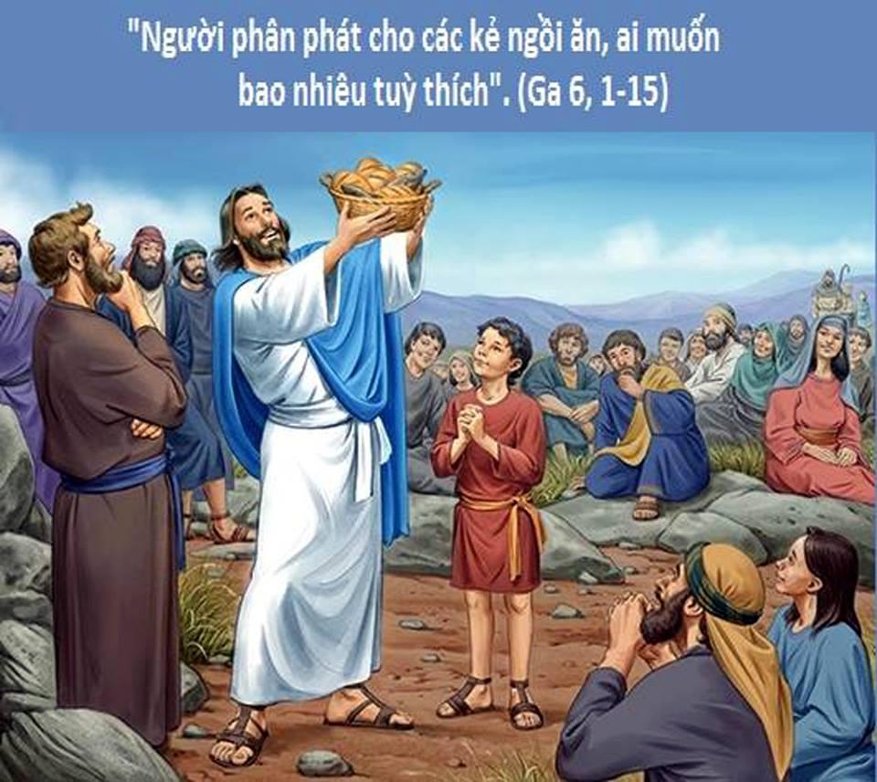 Gioan 6: 1-15 Năm Bánh Hai Cá.